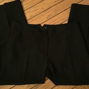 Black Dress Pants with Front Crease